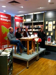 Christopher Schroer, Monika Bilstein, Stefan Weidle und Ruth Eising